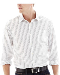 Claiborne Long Sleeve Easy Care Striped Woven Shirt