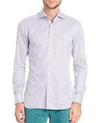 Kiton Mid Stripe Cotton Sportshirt