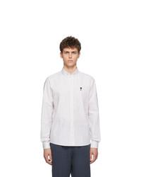 AMI Alexandre Mattiussi Off White And Black Stripe Ami De Coeur Shirt