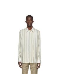 Joseph Off White Paul Stripe Shirt