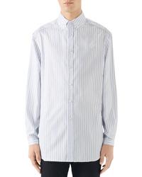 Gucci Oversize Stripe Shirt
