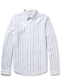 Gant Rugger Button Down Collar Striped Cotton Shirt