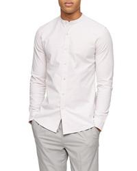 Topman Skinny Fit Stripe Button Up Shirt