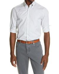 Brunello Cucinelli Slim Fit Stripe Shirt
