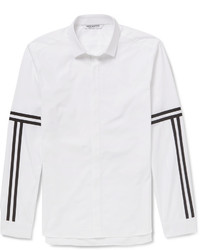 Neil Barrett Slim Fit Striped Cotton Shirt