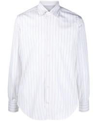 Eleventy Stripe Print Cotton Shirt