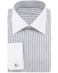 Stefano Ricci Striped Dress Shirt Blackwhite