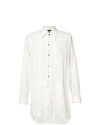 Ann Demeulemeester Grise Striped Long Shirt