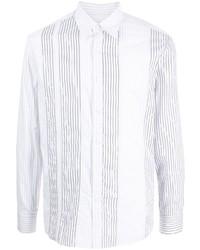 Salvatore Ferragamo Vertical Stripe Long Sleeve Shirt