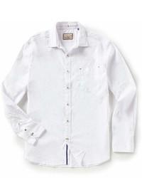 Vintage Italia Dobby Stripe Stretch Long Sleeve Woven Shirt
