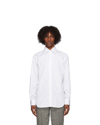 Husbands White And Black Striped Lecce Shirt