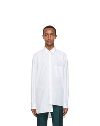 Lanvin White And Blue Asymmetric Shirt