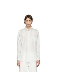 Comme Des Garcons SHIRT White Striped Cupro Shirt