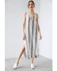 Silence & Noise Silence Noise Annaka Striped Maxi Tank Dress