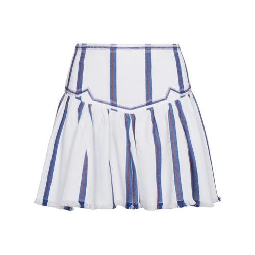 3414bd55ad ... White Vertical Striped Mini Skirts Isabel Marant Etoile Isabel Marant  Toile Striped Mini Skirt ...