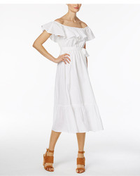 Olivia grace cotton off the shoulder midi dress medium 4468239