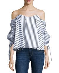Gabriella off the shoulder striped bustier top medium 728917