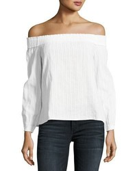 Rag & Bone Jean Drew Off The Shoulder Top White