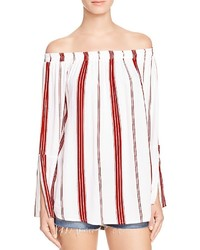 Marfa stripe off the shoulder top medium 728918