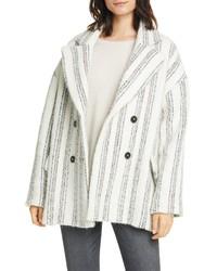 BA&SH Fillie Stripe Double Breasted Coat