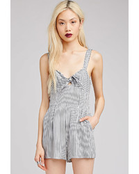 Striped bow front romper medium 264368