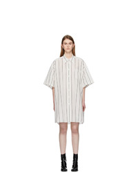Maison Margiela Off White Cotton Poplin Shirt Dress