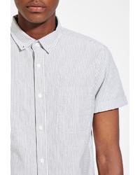 21men 21 Striped Pocket Shirt