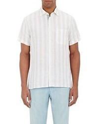 Luciano Barbera Cabana Striped Shirt White