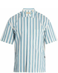 Burberry Harley Vertical Striped Cotton Shirt