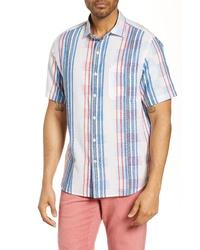Tommy Bahama La Pelosa Stripe Classic Fit Short Sleeve Button Up Shirt