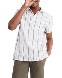 Madewell Montpellier Stripe Pullover Work Shirt