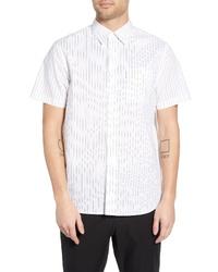 Saturdays Nyc Nico Logo Stripe Woven Shirt