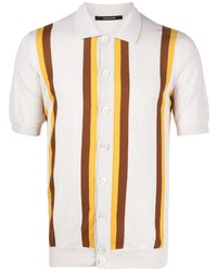 Tagliatore Striped Knitted Polo Shirt