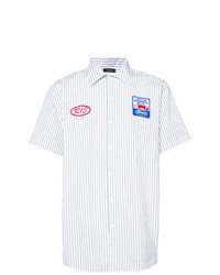 R13 Striped Shirt With Patches