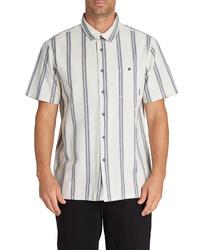 Billabong Sundays Jacquard Stripe Short Sleeve Button Up Shirt