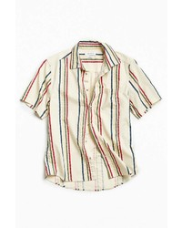Urban Outfitters Uo 90s Vertical Stripe Short Sleeve Button Down Shirt