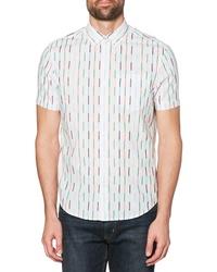 Original Penguin Vertical Broken Stripe Woven Shirt