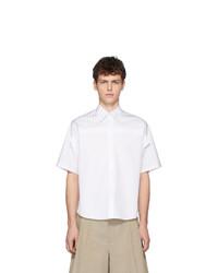 Maison Margiela White Classic Black Stripes Shirt