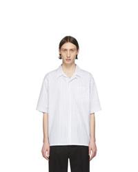 Marni White Poplin Striped Shirt