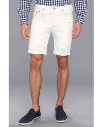 White Vertical Striped Shorts