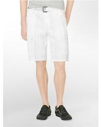 Calvin Klein Printed Cotton Cargo Shorts