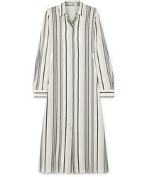 Jil Sander Striped Silk Shirt Dress