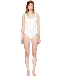 Solid And Striped Ivory Staud Edition The Veronica Swimsuit