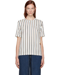Aalto White Striped T Shirt