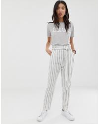 ASOS DESIGN Linen Tapered Peg Trousers
