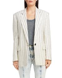 Isabel Marant Stripe Wool Linen Blazer