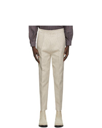 Martin Asbjorn Off White Pinstripe Dawn Trousers