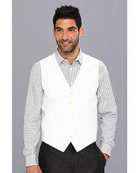 Perry Ellis Linen Cotton Herringbone Suit Vest