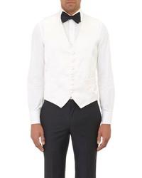 Barneys New York Satin Waistcoat White