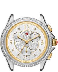 Michele 37mm Belmore Watch Head With Diamonds Silvergold
